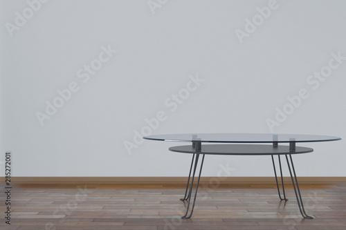Obraz na plátne  Glass table in a neat room
