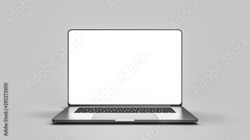 Fotografia  Laptop template isolated on white.  Template, mockup.