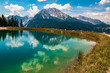 Beautiful alpine view with reflections in a lake at the famous Jenner summit near Berchtesgaden, Bavaria, Germany