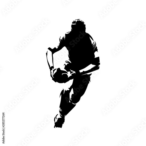 Photo Rugby player running with ball in hands, front view