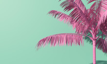 Bright Summer Colourful Palm T...