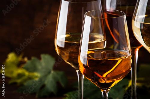 White wine set Fototapet