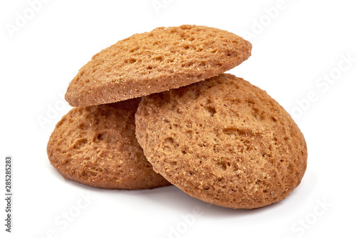 Obraz na plátně  Oat cookies, isolated on white background