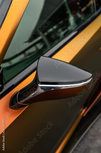 Fototapeta Modern concept super car exterior design detail - mirror obraz