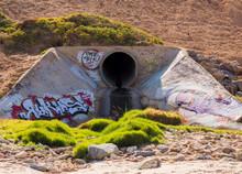 Graffiti On Rainwater Pipe At ...