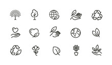 Ecology, Environment Line Icon...