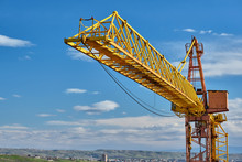 Yellow Construction Jib Crane ...