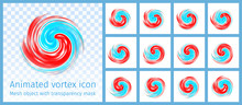Red And Blue Vortex Animated Symbol