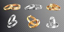 Wedding Rings Transparent Set