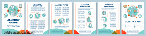 Fotomural Allergy guide brochure template layout