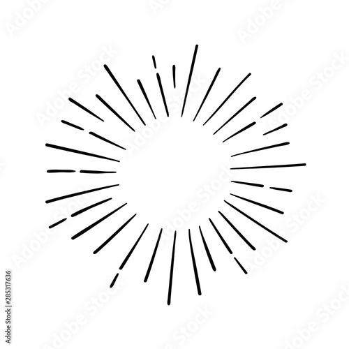 Fototapeta Hand drawn cartoon water explosion doodle. Vector illustration obraz na płótnie