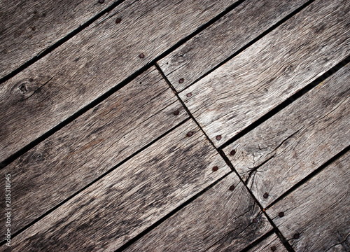 Fototapeta old wooden floor at an angle rotated obraz na płótnie
