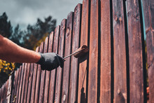 Process Of Fence Renovation At...