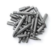 Top View Of Replacement Impact Screwdriver Bits