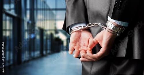 Arrest bound bracelet bribe bribery business businessman Canvas Print
