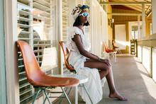 Young Fashionable Black Woman ...