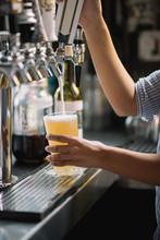 Bartender Pulling A Draft Beer