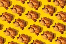 Mosaic Of Roast Turkeys