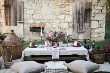 Wedding Table In Countryside