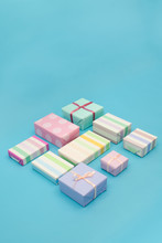 Pastel Gifts On Blue
