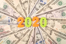 2020 New Year Isolated On Whit...