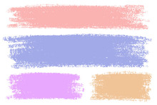 Vector Set Of Hand Drawn Crayon Strokes For Backdrops. Colorful Artistic Hand Drawn Backgrounds.