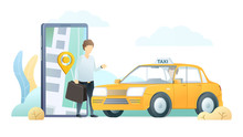 Taxi Delivery Application Flat...