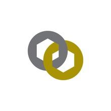 Linked Ring Logo Design Vector