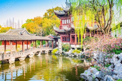 Montage in der Fensternische Shanghai Shanghai Yuyuan Garden. Located in Shanghai, China.