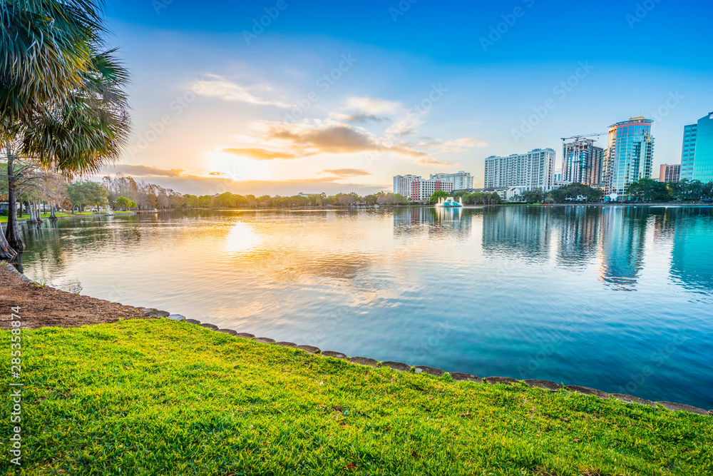Fototapeta Orlando. Located in Lake Eola Park, Orlando, Florida, USA.