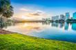 canvas print picture - Orlando. Located in Lake Eola Park, Orlando, Florida, USA.