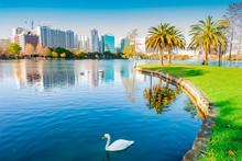 Orlando. Located In Lake Eola Park, Orlando, Florida, USA.
