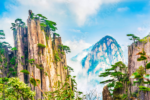 Canvas Prints Pool Landscape of Huangshan (Yellow Mountains). Located near Shixin Peak (Begin to Believe Peak), Huangshan, Anhui, China.