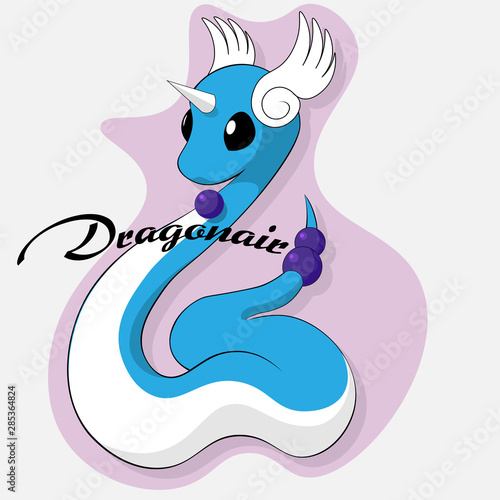 pokemon logo dragonair for design t-shirts or stickers Wallpaper Mural