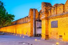 The Tha Phae Gate. Text On Boa...