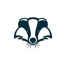 Badger Head Logo Illustration