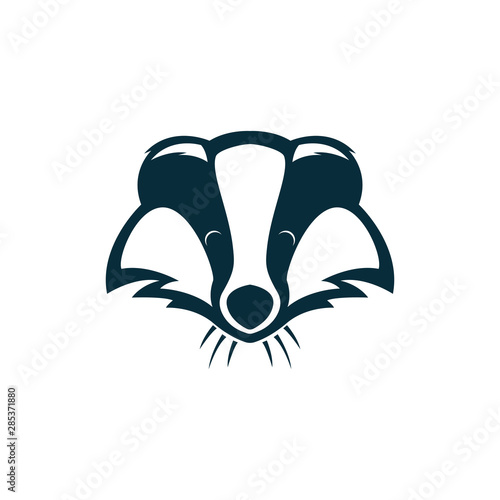 Valokuvatapetti badger head logo illustration