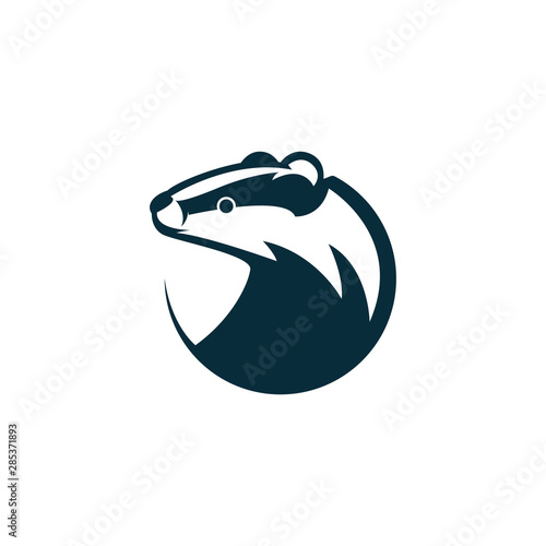 Valokuva badger head logo illustration