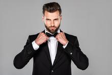 Elegant Confident Man In Black...