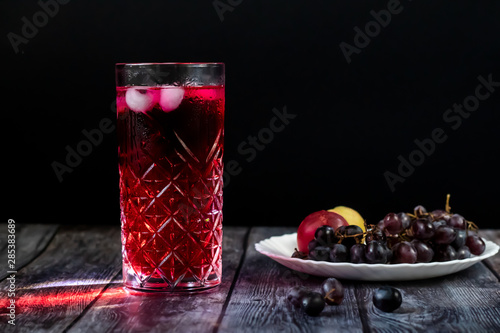Valokuva  Barberry lemonade, ice drink
