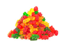 Pile Of Colorful Gummy Bears O...