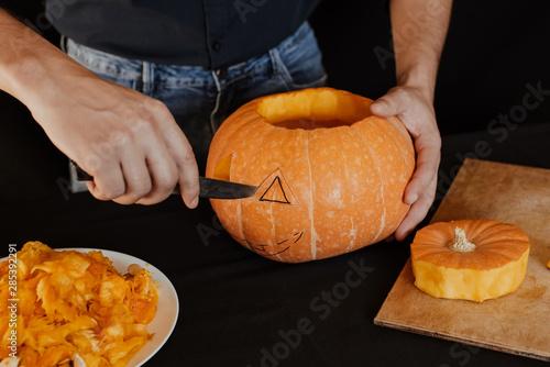 Jack's Halloween pumpkin Canvas Print