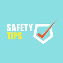 Safety Tips Illustration Symbol On Green