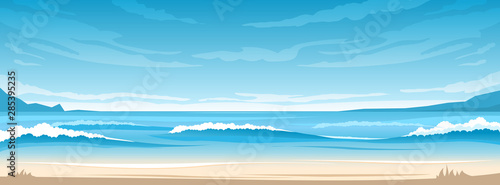 Papiers peints Bleu Simple ocean landscape
