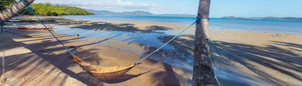 Fototapety, obrazy: Hammock on the beach