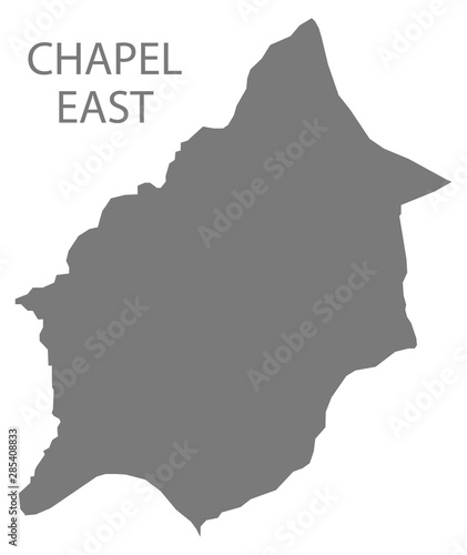 Fotografie, Obraz  Chapel East grey ward map of High Peak district in East Midlands England UK