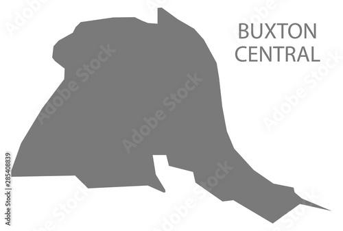 Fotografie, Obraz  Buxton Central grey ward map of High Peak district in East Midlands England UK