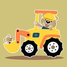 Vector Cartoon Of Funny Animal...