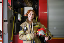 Photo Of Woman Firefighter Wit...