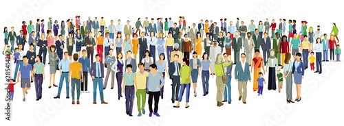 Tablou Canvas große Gruppe von Personen stehen zusammen